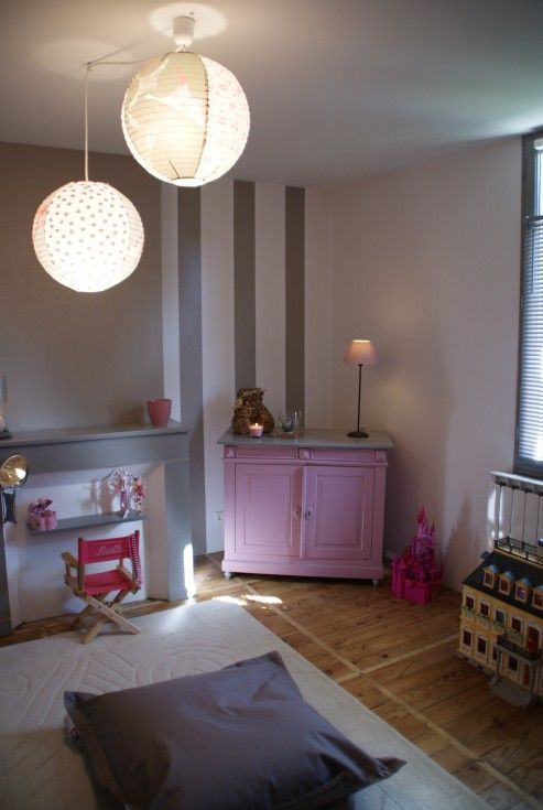 chambre enfant gris rose renovation photo 410 nanou40