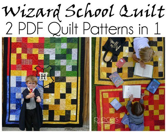 Wizard school quilt pattern patterns in one single and