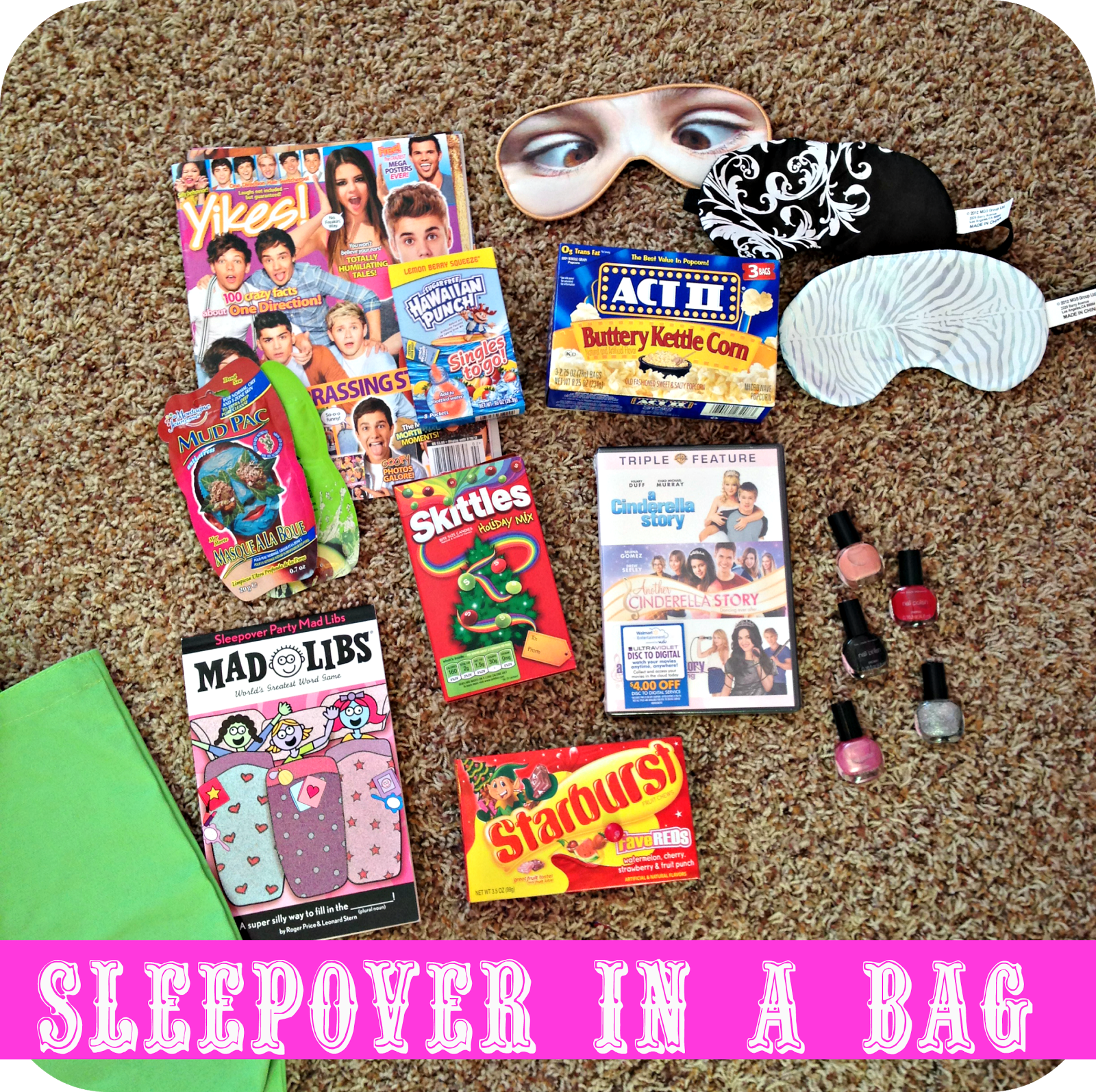 girl present ideas sleepover kit