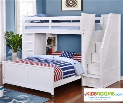 Multifunction Loft Bed In White