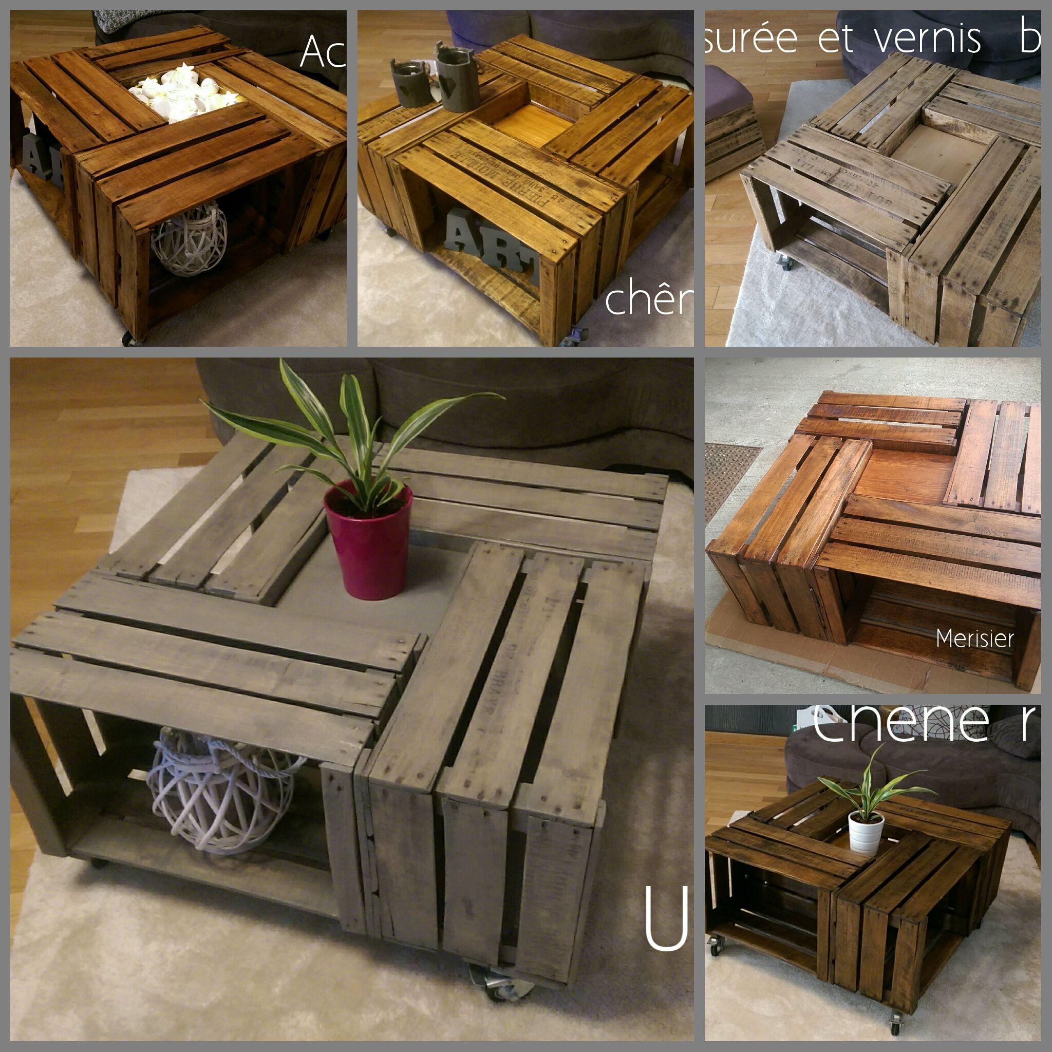 Pin De Adopteunecaisse Diy En Table 4 Caisses Pommes By Adopteunecaisse Muebles De Pales De Madera Muebles De Pales Pales De Madera