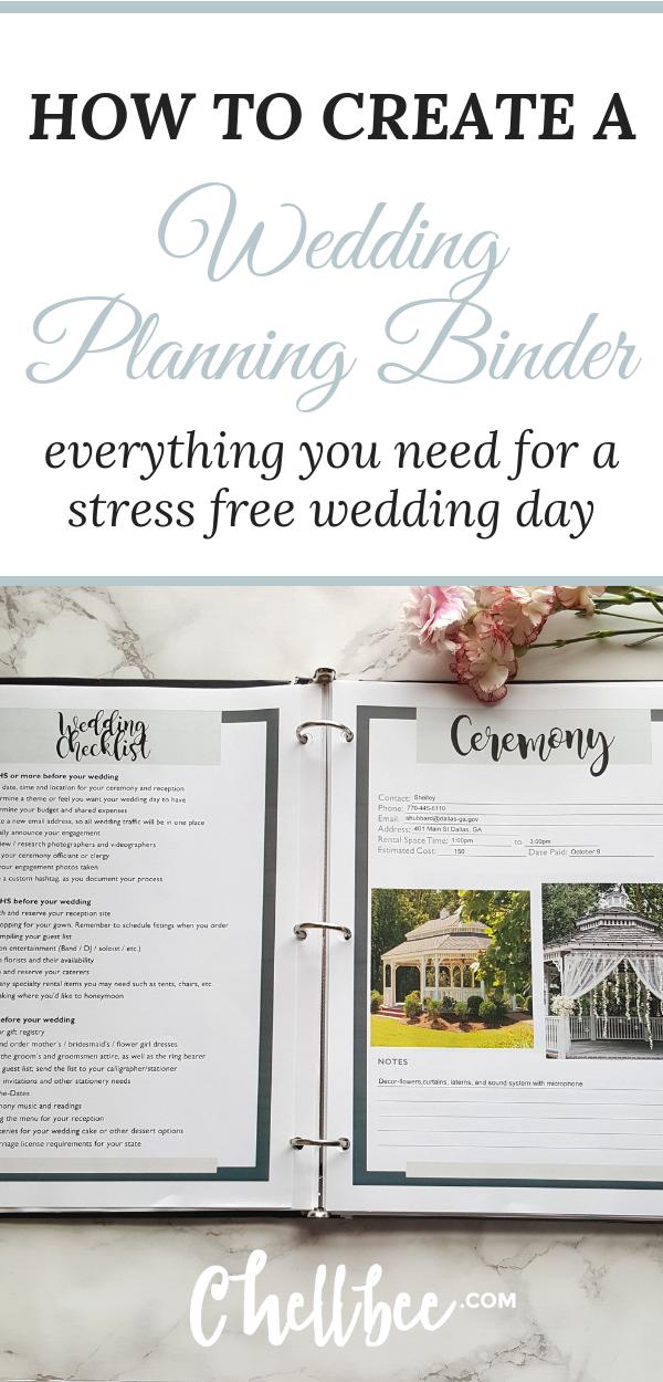 How To Make A Wedding Planning Binder That Will Make You Stay Organized Binder O Diy Wedding Planner Stress Free Wedding Planning Wedding Planner Book Diy