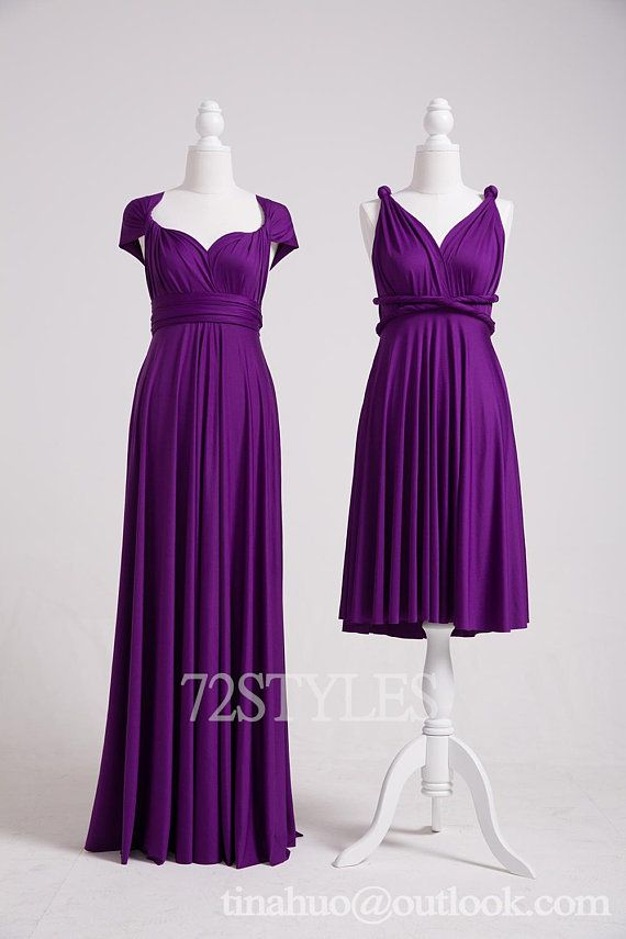 55c8c75f5991 Purple Bridesmaid Dresses,Convertible Dress,Convertible Wrap Dress,Infinity  Dress,Infinity Wrap Dress,Multiway Dress,Twist Wrap Dress