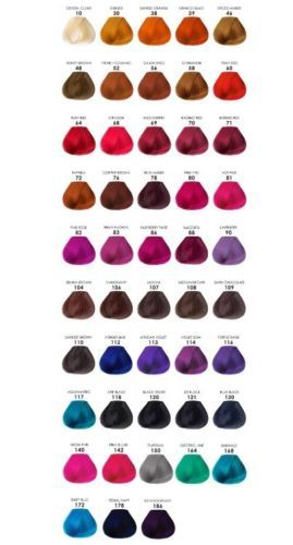 Adore Creative Image Shining Semi Permanent Hair Color 4 Fl Oz 118ml Semi Permanent Hair Color Adore Hair Dye Hair Color Chart