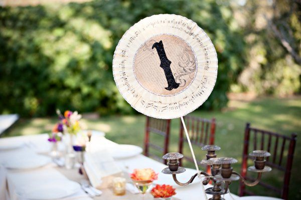 vintage table number idea (photo credit: William Innes Photography)