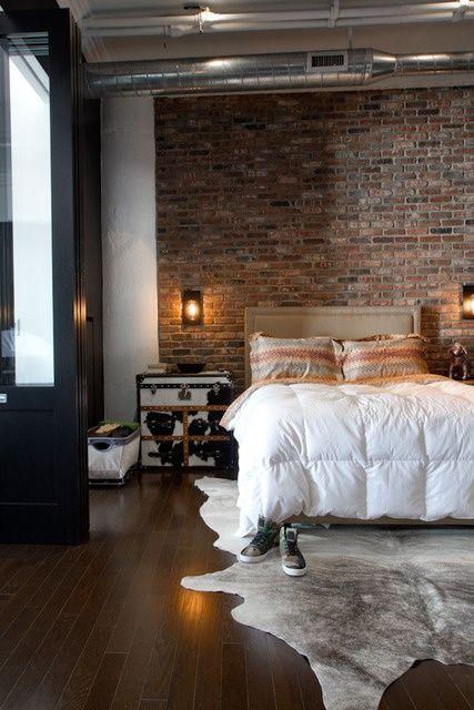 28 idées de chambres au style industriel | Idées Déco Chambre ...