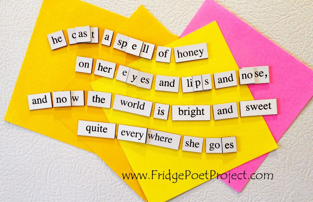 The Daily Magnet #317 Magnetic Poetry; Demagnetize Writer's Block! www.FridgePoetProject.com #writerslife