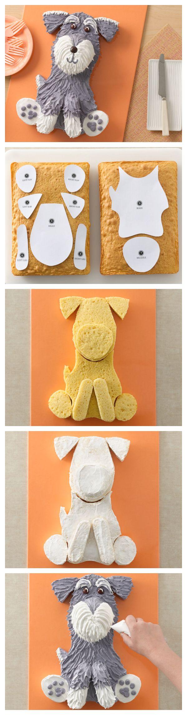 Schnauzer Dog Cake   Recipe   Cakes   Pinterest   Schnauzer dogs ...