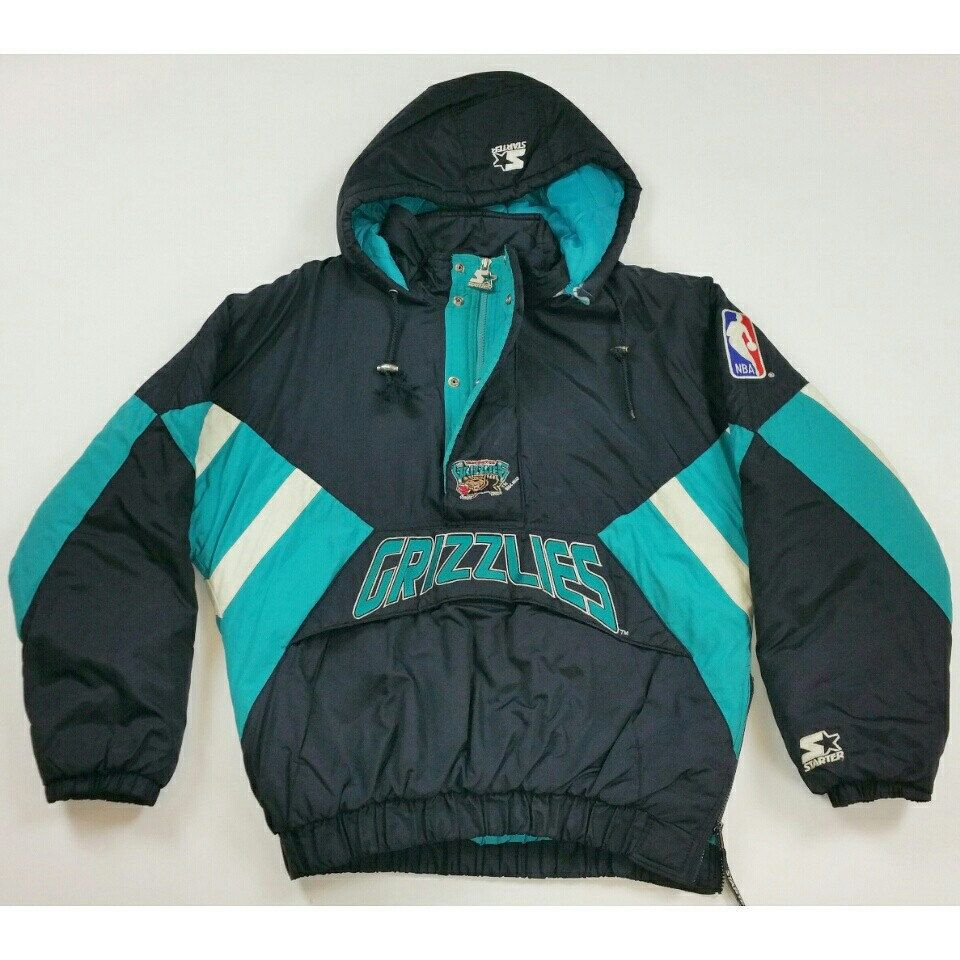 Check out this Vintage NBA Vancouver Grizzlies Starter Jacket Available on  www.JustOneVintage.com Follow us on Instagram  justonevintage bfb3ffe37