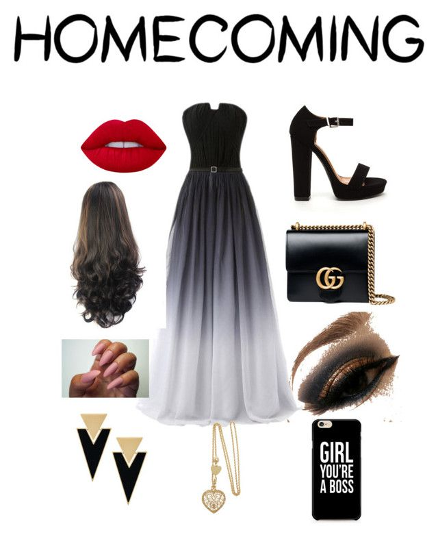 """HomeComing"" by jacobsartorius2002 on Polyvore featuring Gucci, Lime Crime and Yves Saint Laurent"