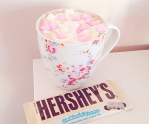 Hot chocolate with fruity marshmallows and a cookies & cream bar... Yummy!