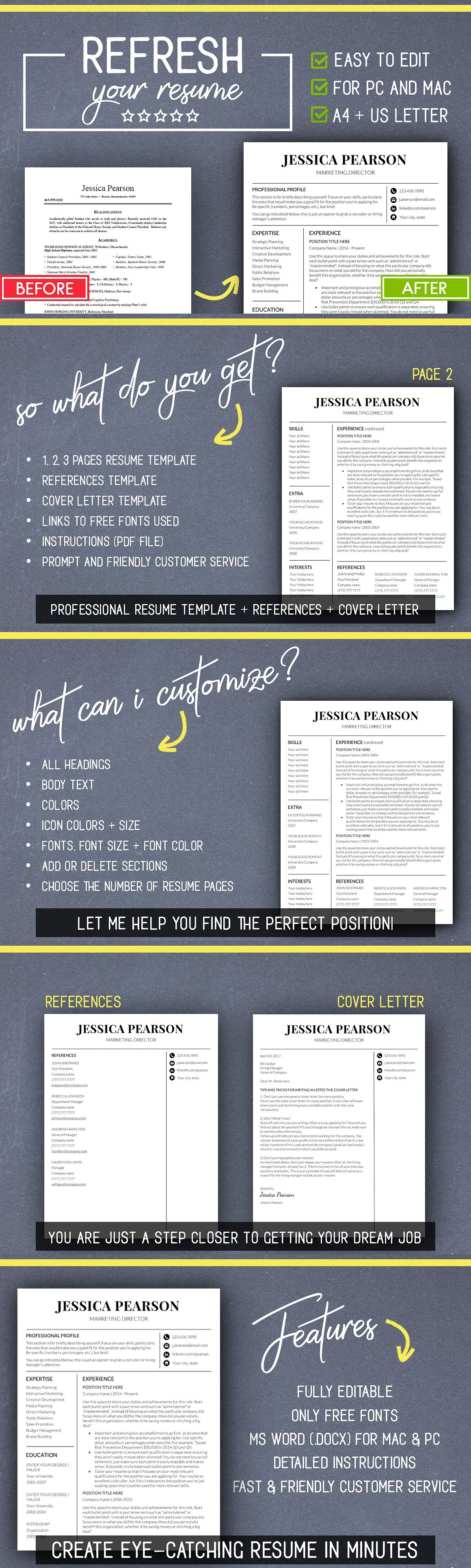Resume Template Word Mac Clean Resume Template Word Mac Pc  Pinterest  Professional .