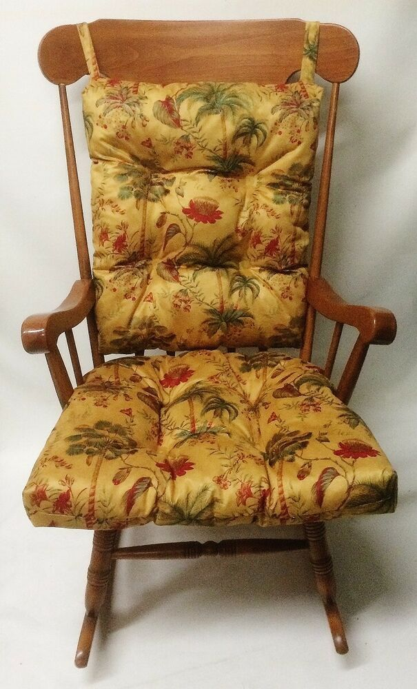 Rocking Chair or Glider Over Sized Palm Trees Cushion Set