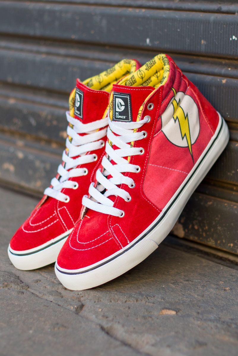92f3cb2ab772 Tênis Cano Alto DC Comics The Flash