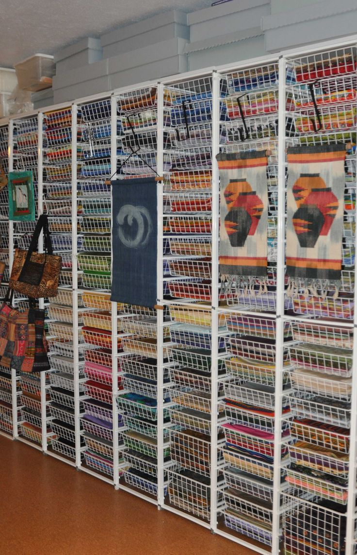 Organize your quilt or craft supplies with elfa.