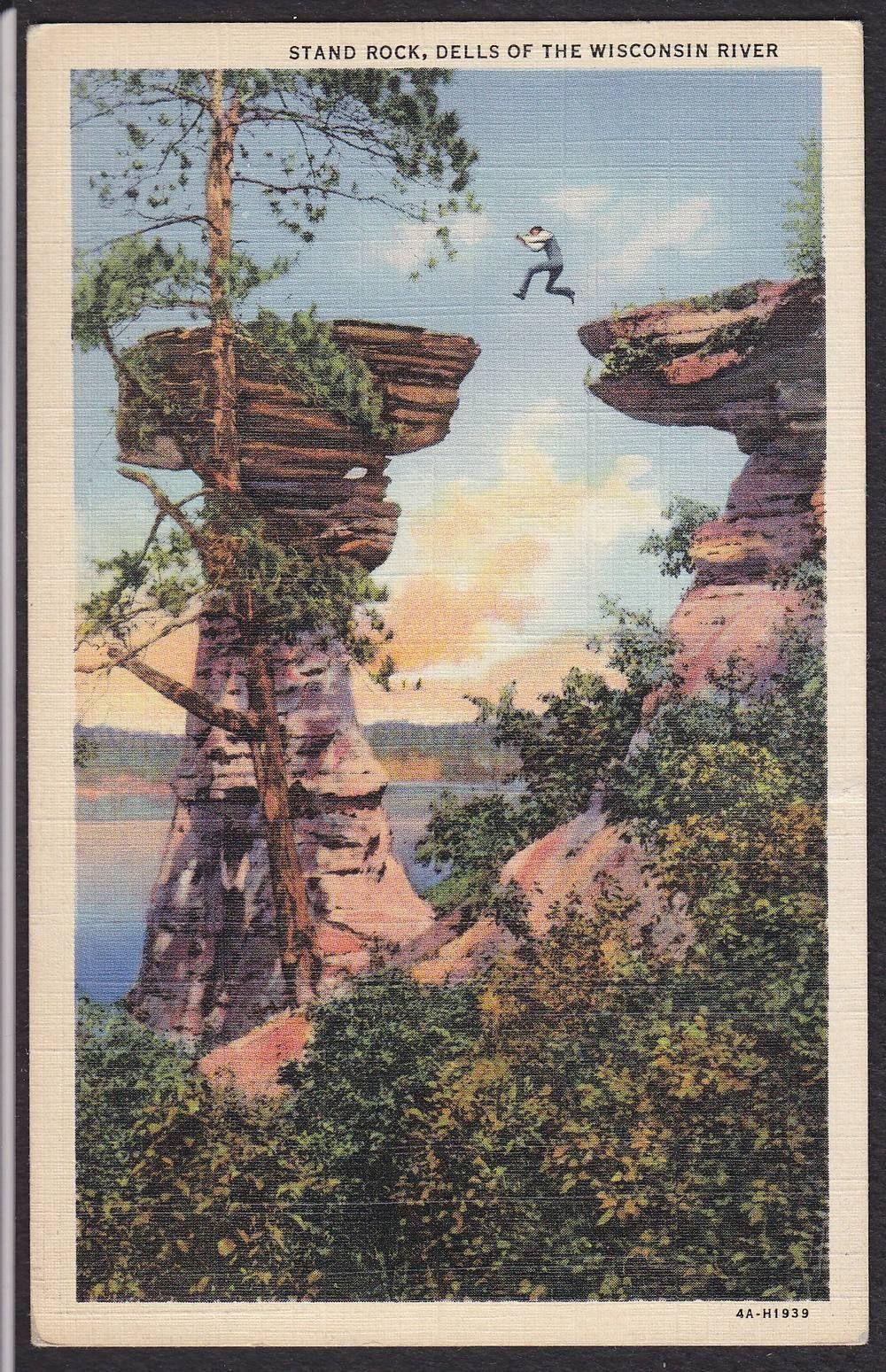 Wisconsin Dells-Stand Rock-River-Vintage Linen Postcard | eBay