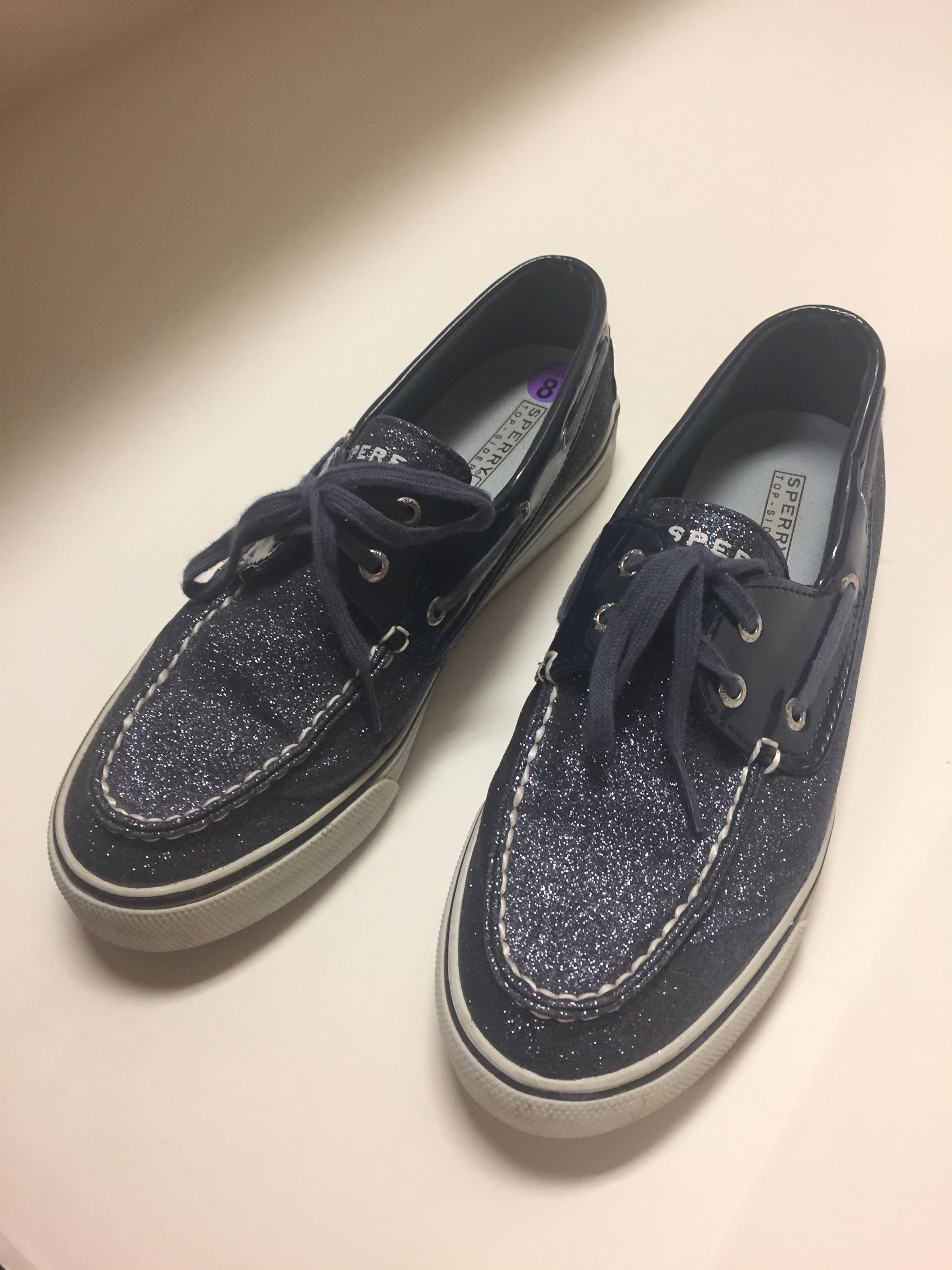 cb77b498a8ff Sparkly Sperry Loafers Sz  8  24.99
