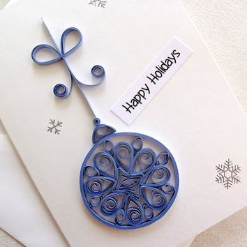 handmade paper quilled Christmas card – from sayitwithblooms on ...