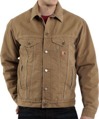 0e2bef35af Carhartt® Sandstone Sherpa-Fleece-Lined Jean Jacket – Regular | My ...