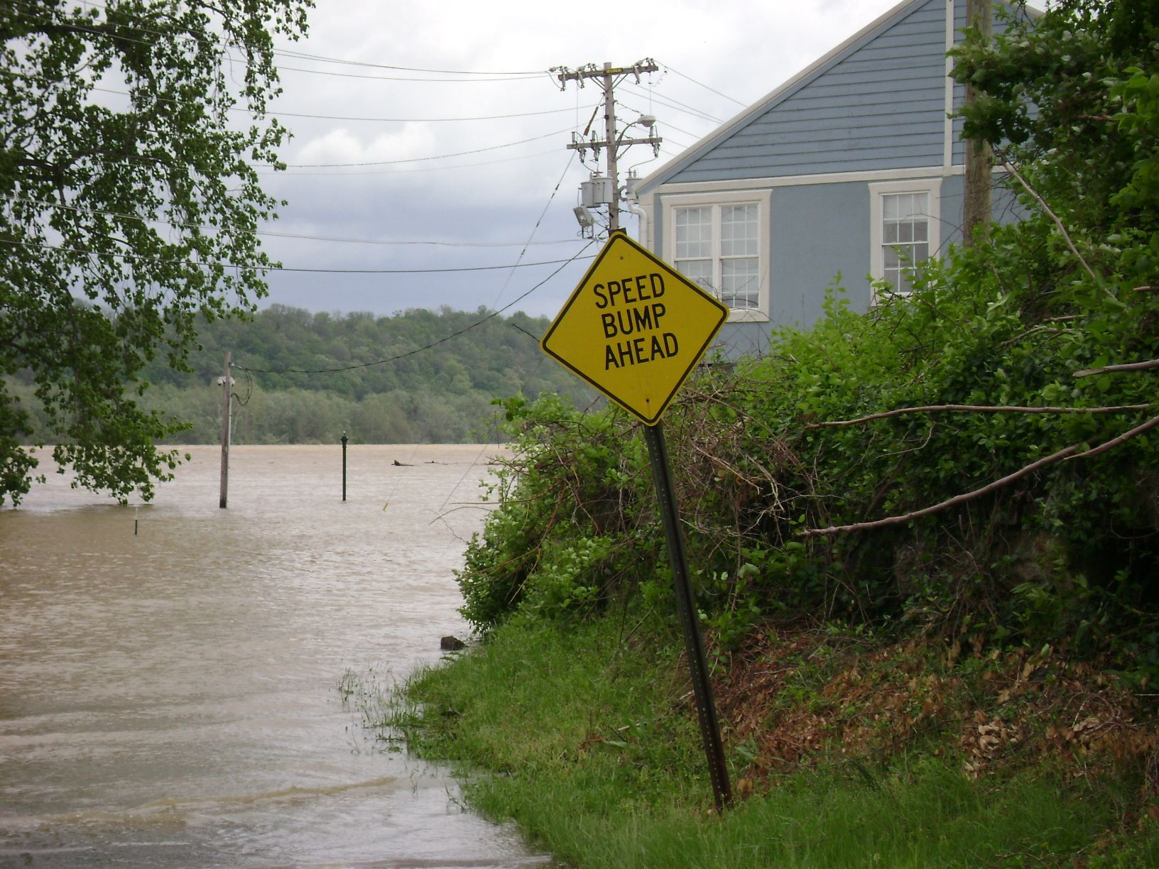 Ohio River Flood in Brandenburg Meade County