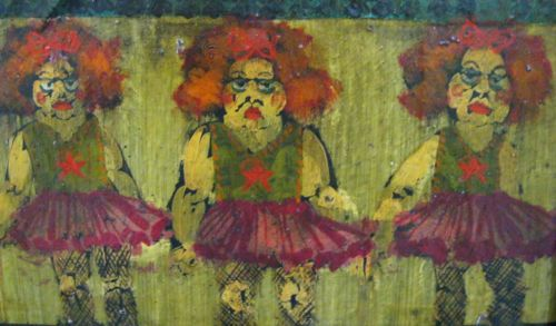 Richard Wynn Dancers Oil on Board Signed on Face Surrealist Mid Century Modern | eBay