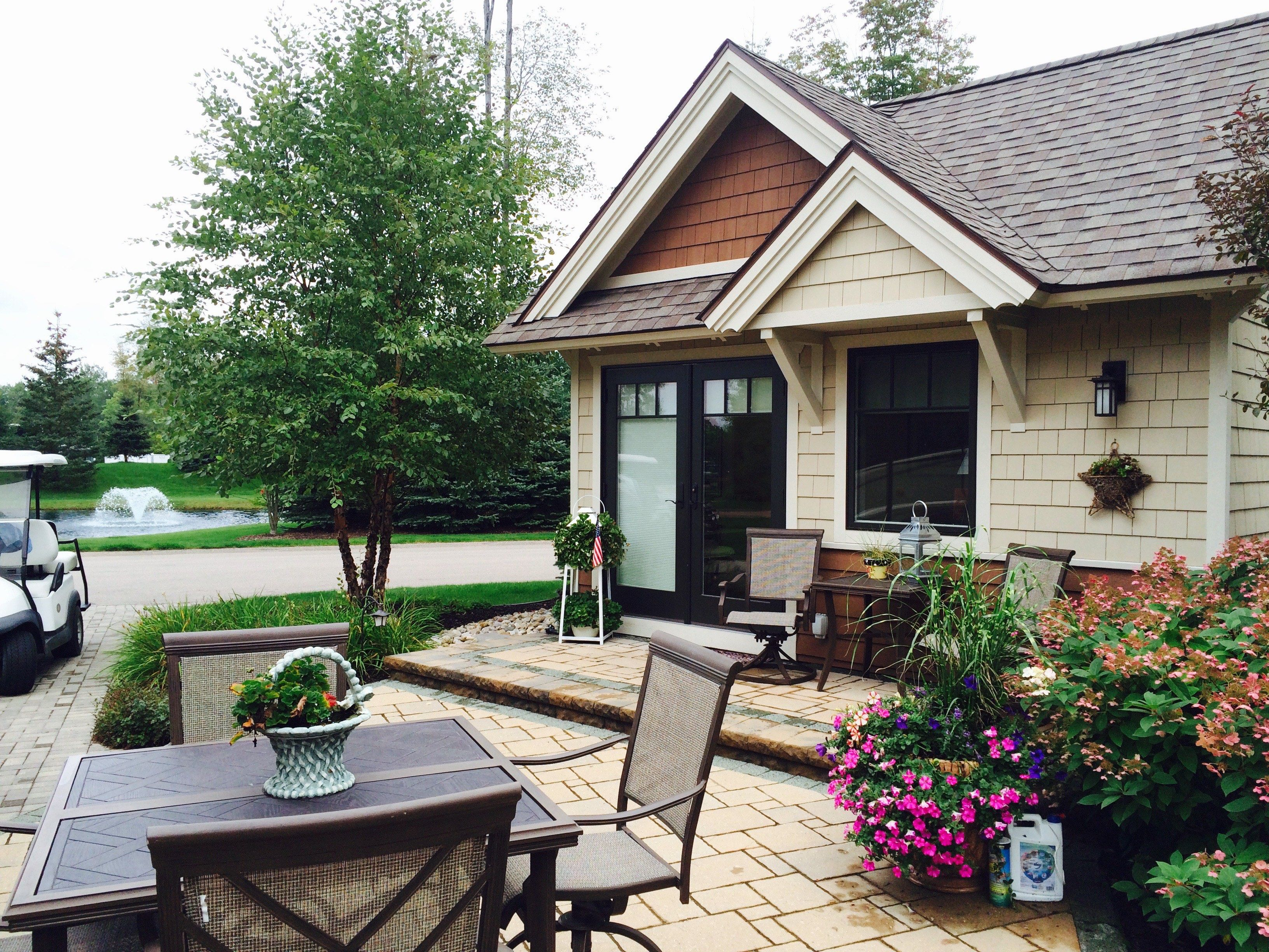 Hearthside Grove Luxury Motorcoach Resort Lot 240   #exterior #bungalow  #brick #pavers