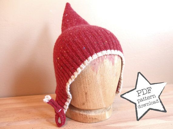 Pixie Hat Sewing Pattern Recycle Your Old Sweater By Lalacircuit
