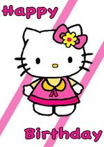 Happy Bday Printable Hello Kitty