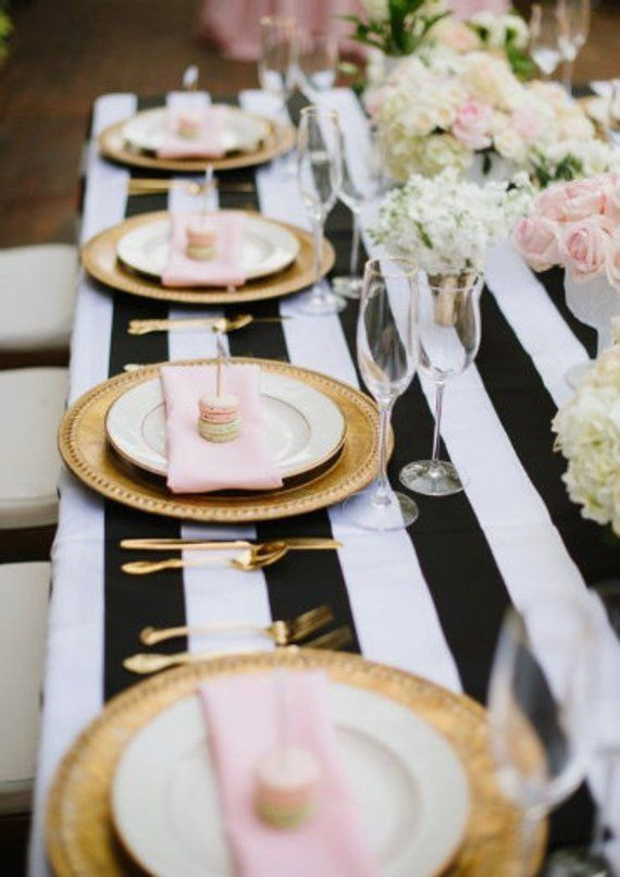 Striped Tablecloth Navy Blue And White Stripe Table