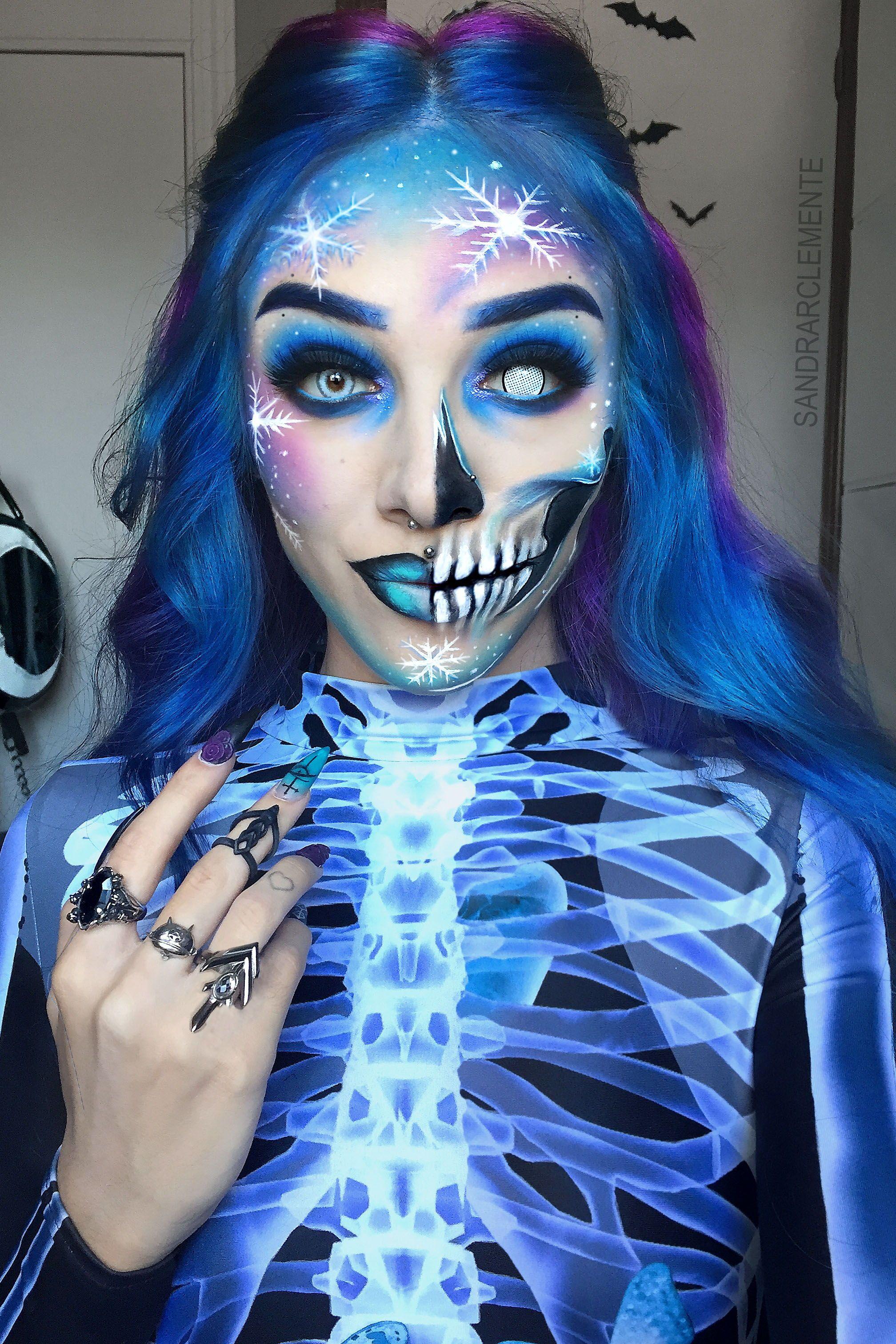 Zombie Reckoning Costume Blue makeup, Up halloween