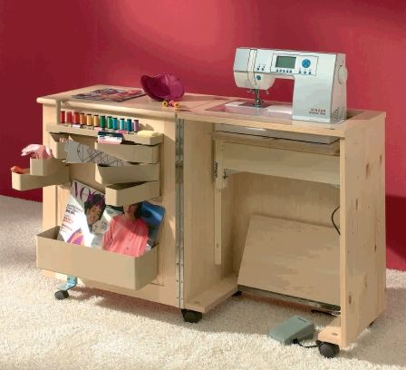 Mueble m quina de coser mueble para coser pinterest for Mueble organizador de costura