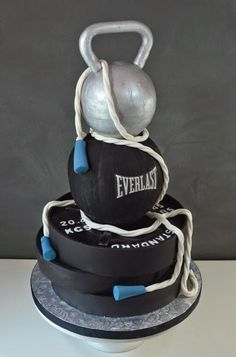 workout weights groom's cake  cakes in 2019  cake gym
