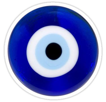 Evil Eye Sticker By Darkcosmos In 2021 Eye Stickers Evil Eye Iphone Case Stickers