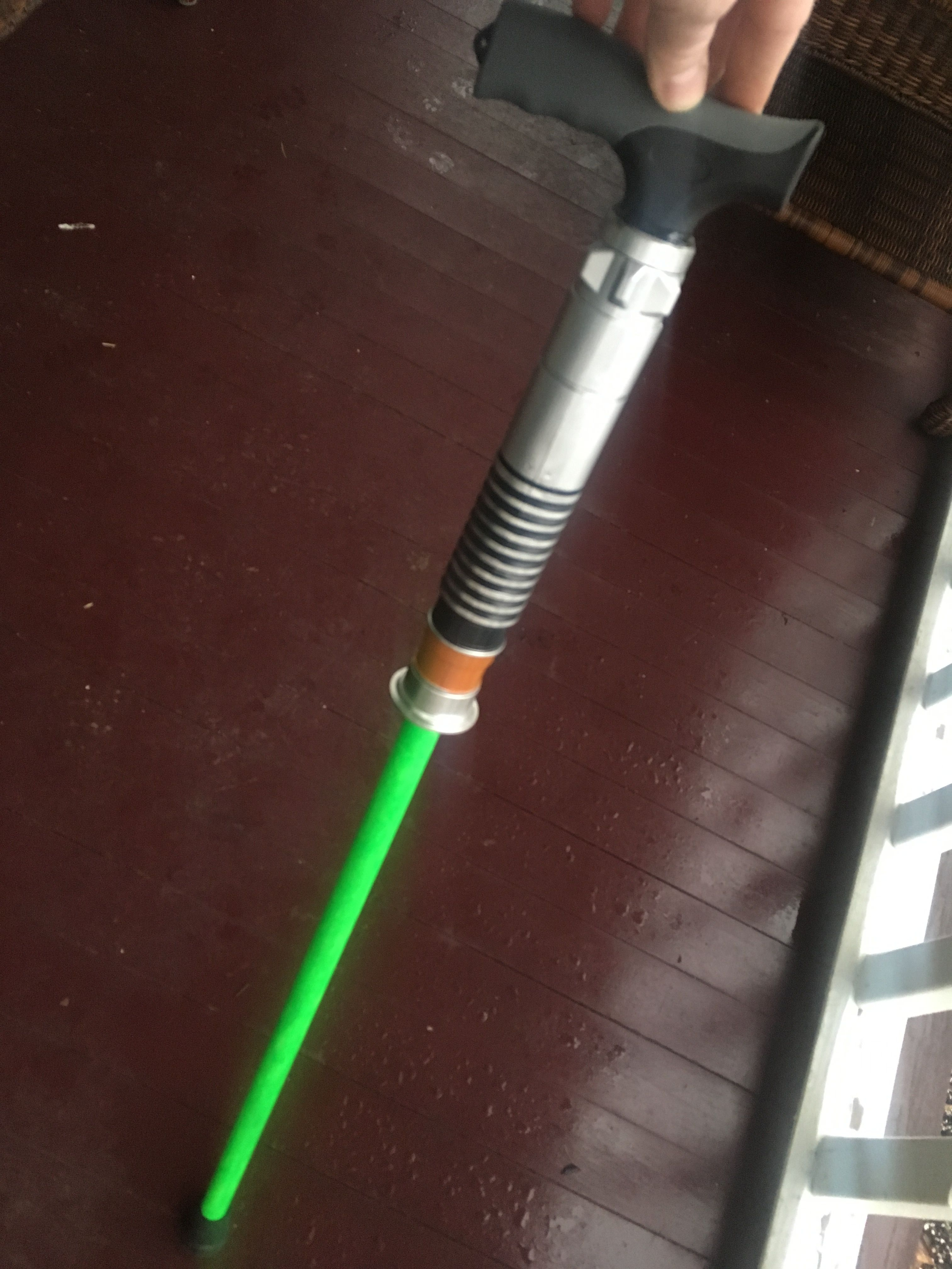 Lightsaber style custom walking cane by @thegoblinworkshop  Neon