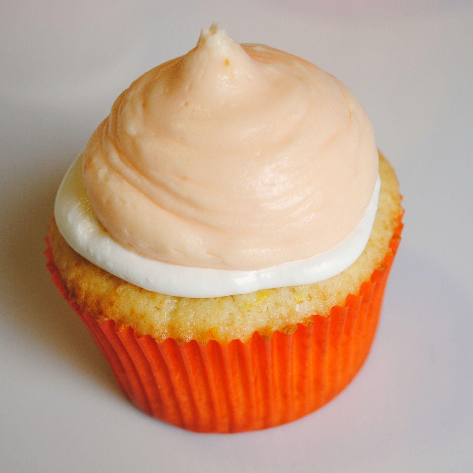 Orange creamcicle cupcake