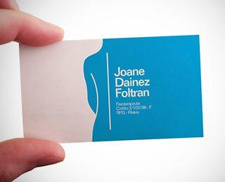 Joane Physiotherapist By Bravo Propaganda Via Creattica Business Card Inspiration Doctor Business Cards Business Card Design Creative