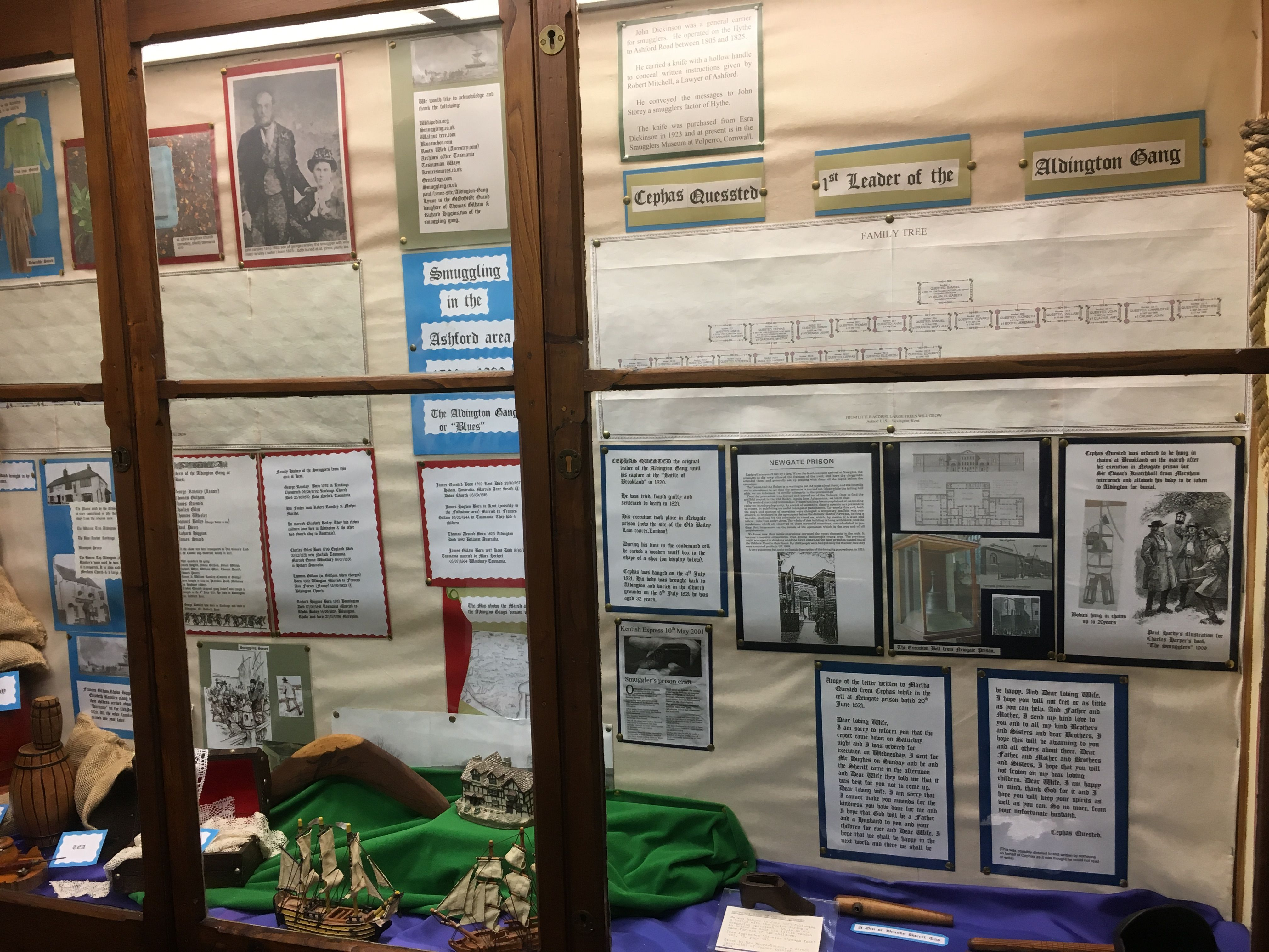 Smuggling Display At Ashford Museum Featuring The