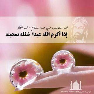إذا أكرم الله عبدا شغله بمحبته الإمام علي عليه السلام Photo Quotes Ali Quotes Imam Ali Quotes