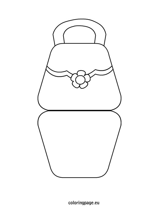 Bag Shaped Mother S Day Card Coloring Page Mothers Day Crafts For Kids Handbag Card Mothers Day Cards