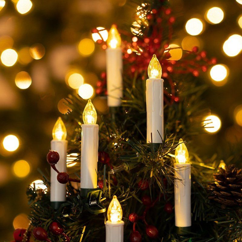 Christmas Tree Led Unscented Taper Candle Led Taper Candles Christmas Tree Candles Christmas Candles