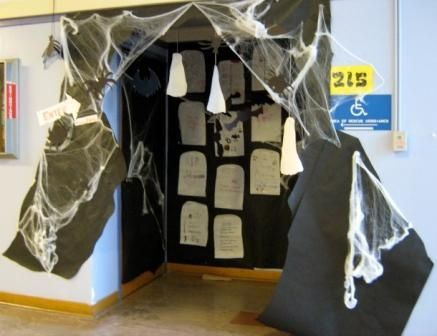 Classroom Door Decorations For Halloween spooky classroom door decoration | festivals | pinterest