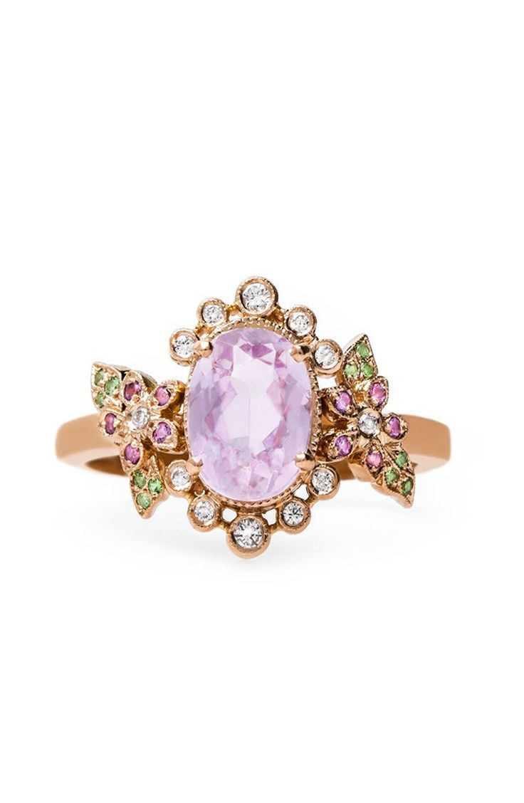 engagement bario morganite mermaid and rings neal cluster ring opal