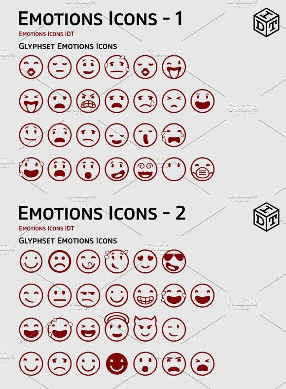Emotions Icons Web Fontfree Pinterest Free Symbols Font