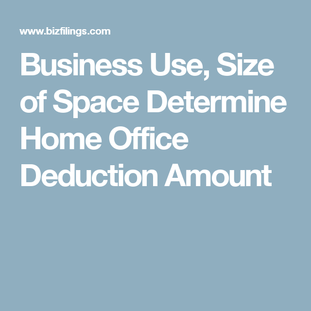 Business Use, Size Of Space Determine Home Office