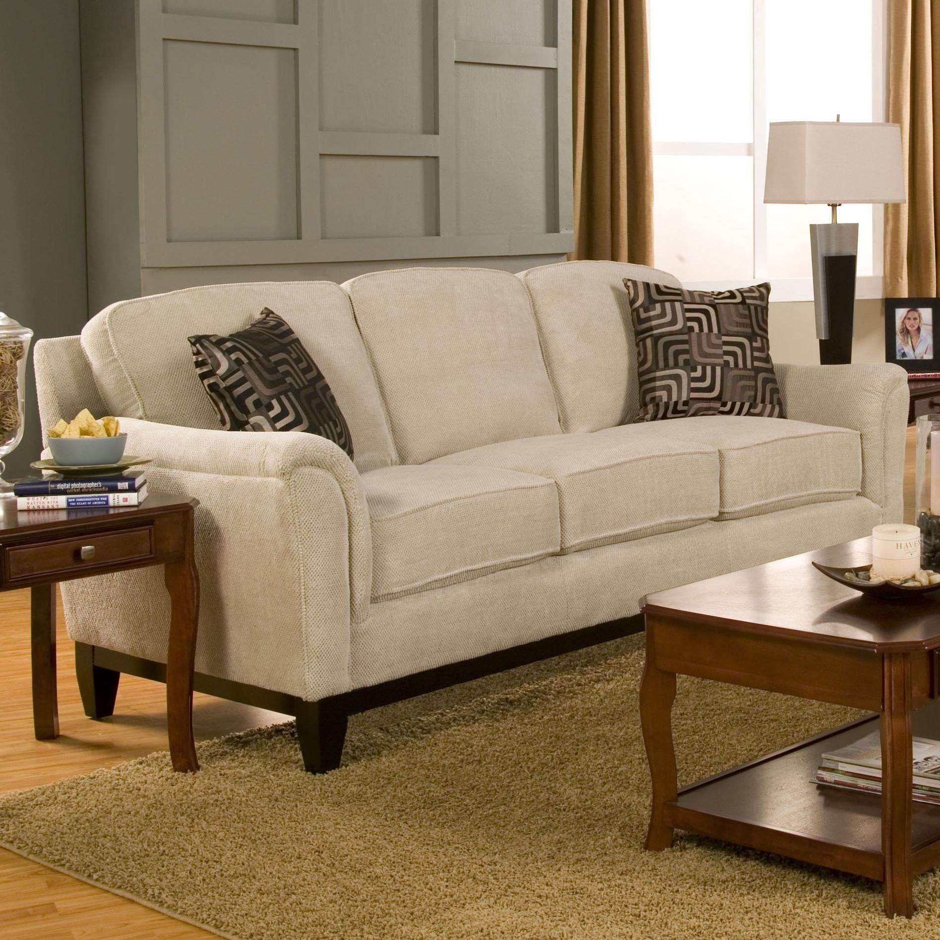 Carver Sofa With Exposed Wood Base By Coaster Rooms Furniture