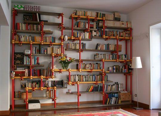 Libreria tubi innocenti cerca con google design del for Arredare libreria