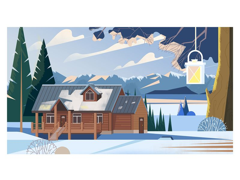 Fresh air | illustration | Illustration, House illustration