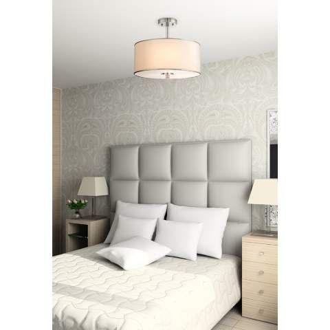 Elsa 16 Wide White Fabric Drum Shade Ceiling Light 3c718