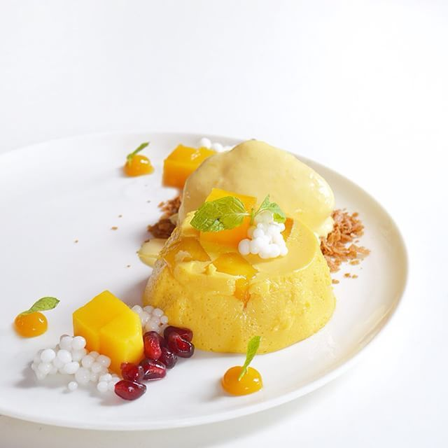 New Wave Mango Pudding # Plated local #dessert. Simple dessert made complicated.