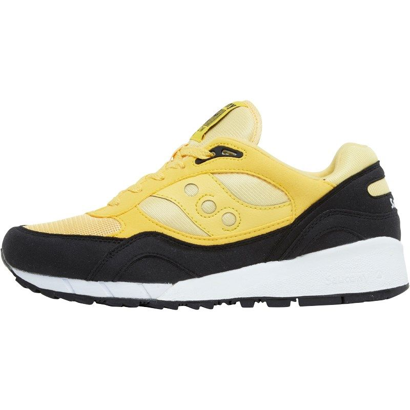Saucony Mens Shadow 6000 Beta Pack Trainers YellowBlack